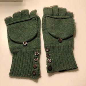 EMS Forest Green Fingerless gloves/mittens